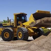 Komatsu Loader WA420 Dumping Dirt